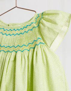 NECK & NECK | LITTLE GIRL LIME SMOCKED DRESS - Dresses - GIRL