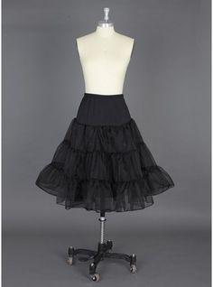 Women Polyester/Lycra Knee-length 2 Tiers Petticoats