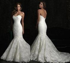 New Lace mermaid wedding dress white ivory strapless wedding dress formal evening dress custom size on Etsy, $202.83 AUD