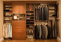 i hope to never have a closet this big, but if i do have one, it better be stocked like this!