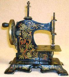 Antique German Toy Miniature Sewing Machine.