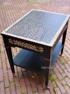 Use either leopard or Zebra stencil from Cutting Edge Stencils