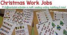 Do you need some new Christmas work jobs?! Here are 39 work jobs ready for you to throw into your classroom on Monday!