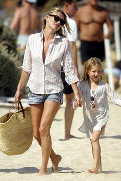 Selección de prendas y accesorios que se versionan en clave mini para niñas que quieren vestir como mamá: Kate Moss y Lila Grace