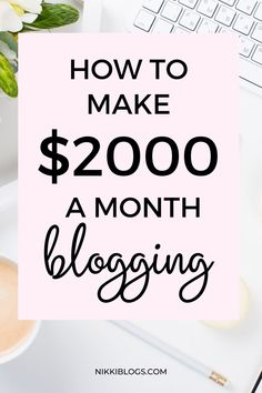 Learn how to make money blogging with this guide to monetizing a blog. Click here to discover all of the ways you can make $2,000+ a month blogging!