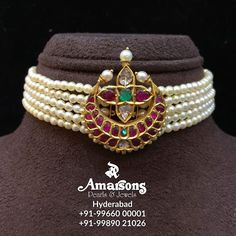For More Info Whatsapp on : Gold Jhumka Earrings, Gold Choker Necklace, Pearl Choker, Hyderabadi Jewelry, Hand Jewelry, Pearl Jewelry, Indian Jewelry, Mughal Jewelry, Antique Jewellery