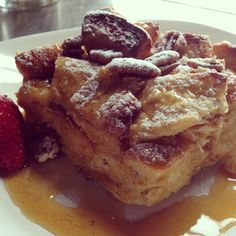 """Boozy French Toast Soufflé #boozybreakfast #breakfast #whiskey #cookingwithbooze #bittermommy"""