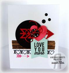 Reverse Confetti   Crushin', Whole Lotta Hearts [Valentine's Day Card]