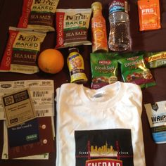 Goodies from the post race festival booths.  Thanks Emerald 12k Across the Bay!