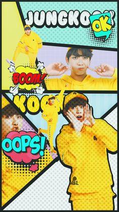 JUNGKOOK bts lockscreen wallpaper comic ver