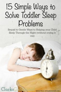 This post will show you how to get your toddler to sleep! Do you have a toddler who has trouble sleeping? Here's 15 simple ways to help solve toddler sleep problems, so everyone has a better night!