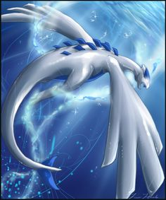 What's curious is that Lugia isn't a water pokemon,...
