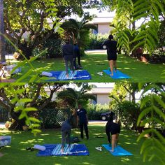 Nona & her daughter Elena getting their #SpinalTwist on with Gentle Morning Yoga at Nona Lani CottagesSundays@ 9am #MorningYoga #MauiHawaii