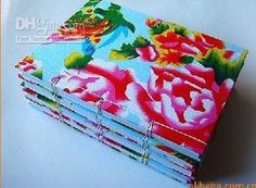 Handmade fabric notebook
