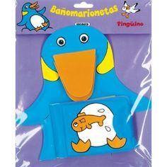 Bañomarionetas - Pingüino, Marioneta y libro para el baño.