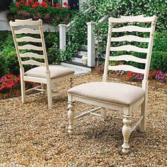 Paula Deen Home Set of 2 Mikes Side Chairs in Linen Finish  $670.00 free white glove