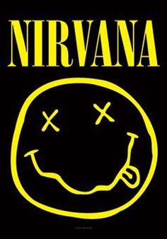 Nirvana Smiley Fabric Poster