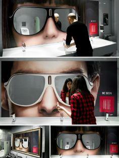 Love this - Sunglasses Mirror Install in Belgium Nightclub