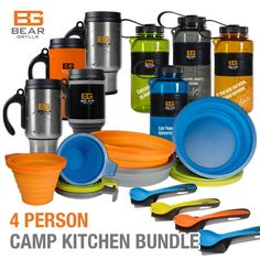 Bear Grylls Camp Kitchen Deluxe Bundle for 4
