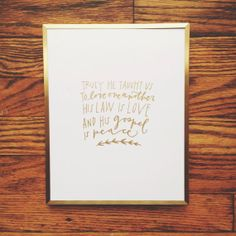 8x10 Gold Truly He Taught Us Christmas Print