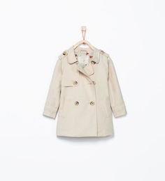 Image 1 of Buttoned trenchcoat from Zara