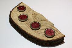 Adventskranz - Kerzenständer Adventskranz rot Holz Natur - ein Designerstück von CharLen-Dorit bei DaWanda