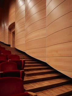 Teatro Puccini – Trysil Interiørtre AS Building Design, Wood Wall, Modern Design, Stairs, House Design, Landscape, Architects, Motorcycle, Inspiration