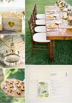 Rustic-decorated wedding reception table.  #RusticWedding
