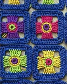 Love scrap use maybe that happens to all old knitters and crocheters lol jh crochet fox crochet gifts love crochet crochet granny crochet squares crochet lace crochet motif crochet stitches crochet patterns – Artofit Granny Square 43 from When Granny Me Motifs Granny Square, Crochet Motifs, Granny Square Crochet Pattern, Crochet Blocks, Crochet Squares, Crochet Blanket Patterns, Crochet Stitches, Rug Patterns, Granny Squares