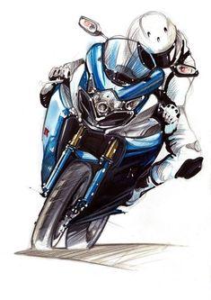 Marker & Bleistiftskizzen Rakesh Das – Nurullah Aydın – Join the world of pin Motorcycle Posters, Motorcycle Art, Motorcycle Design, Bike Art, Bike Design, Motocross, Image Moto, Motorbike Drawing, Bike Sketch