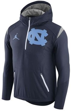 Nike Men's North Carolina Tar Heels Fly-Rush Quarter-Zip Hoodie