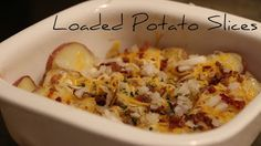 Loaded Potato Slices | A Splash of Love | Amy Anderson