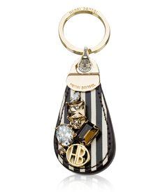 leather tab key fob - designer key fobs - key chains for women