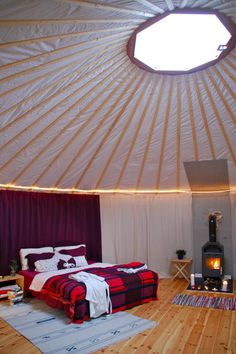 Yurts in Sweden!
