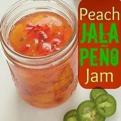 Enjoy this Texas favorite, Peach Jalapeño Jam. Peach Jalapeno Jam, Jalapeno Jelly Recipes, Pepper Jelly Recipes, Hot Pepper Jelly, Home Canning Recipes, Jam Recipes, Peach Jelly, Canning Peaches, Marmalade