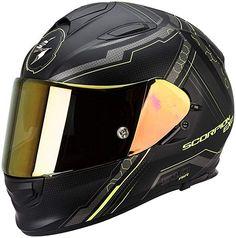 Scorpion Exo 510 Air Sync Helmet - order cheap at FC-Moto Black Neon, Neon Yellow, Black N Yellow, Pink Motorcycle Helmet, Exo, Dark Smoke, Ventilation System, Scorpion, Perfect Fit