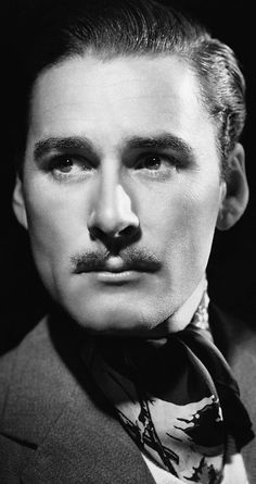 Errol Flynn: my favorite actor of all time. I grew up on his films. He's also one of the few men I think looks good with facial hair.