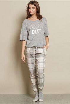 Pantalon de pyjama ample à carreaux