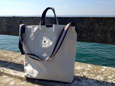 Sail Bag made of used sailcloth. See more http://RoughElement.dawanda.com