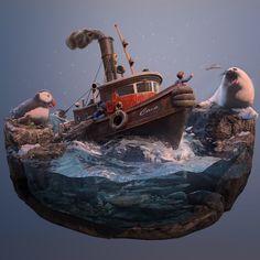 Fishing Trip, Joel Zakrisson on ArtStation at…