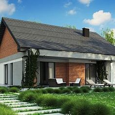 Z316 - Dom parterowy z dachem dwuspadowym do 100 m2 oraz możliwością adaptacji poddasza...