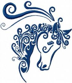 horse free embroidery design. Machine embroidery design. www.embroideres.com