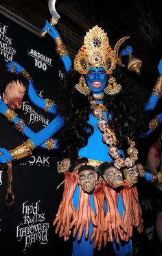 Heidi Klum's scary Halloween costume as the Hindu goddess of destruction in 2008