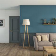 Un salon combiné de bleus