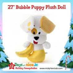 """Go BIG this holiday season with this 27"""" Bubble Puppy plush doll!"""