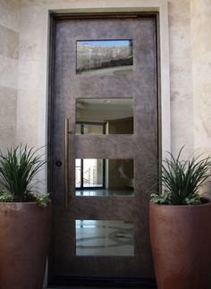 Contemporary Entry Doors Contemporary Door Custom Wrought Iron