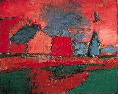 Nicolas de Staël, Arbre et maisons (Paysage) #abstractart