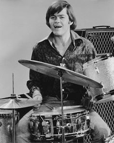 "Micky Dolenz, 1960s--- Rafelson and Schneider Needed to pick the drummer for TV show that created a band to go with the story lines: ""The Monkees"". So they got all four of the guys and said, ""alright who ever is going to be the drummer, take one step foreword"" and Mike, Davy and Peter took one step back leaving Micky up front. That's how Micky Dolenz became the drummer. MUSIC STRINGS OF HISTORY - https://www.pinterest.com/DianaDeeOsborne/music-strings-of-history/ - Photo pinned via Mary…"