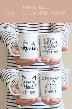 Mugarita is bringing in the new year with an epic giveaway for cat lovers!    Enter for your chance to win 4 of Etsy's best selling cat coffee mugs!