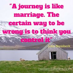 """""""A journey is like marriage. The certain way to be wrong is to think you control it"""" Register NOW at http://ift.tt/1pe1GGR or click on the link in our bio for our FREE eBook on how to take better travel pics on your next holiday. Get your free eBook and cheat sheets today. Photo by @johnlechnerart #wanderlust #travelpics #travel"""